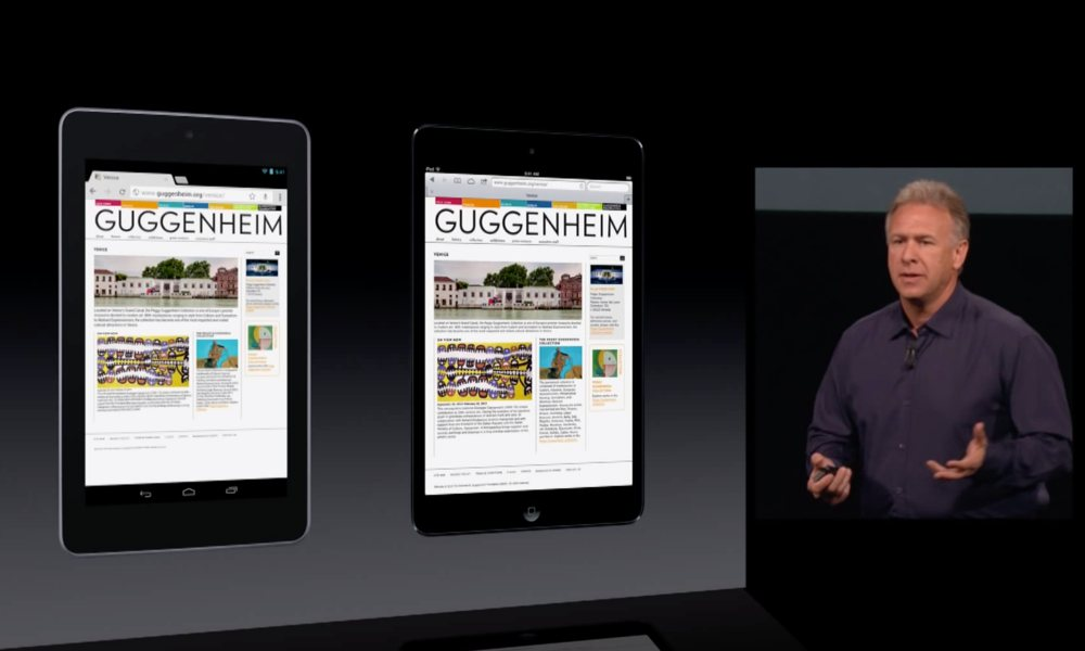 Apple Phil Schiller Ipad Mini Debut Vs Android Tablet