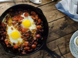 Chorizo Tomato & Egg Breakfast Skillet | Recipe